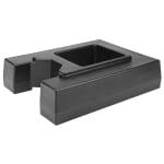 "Cambro R1000LCD110 Camtainer Riser - 19-1/2x15-3/8x4-1/2"" Black"