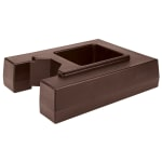"Cambro R1000LCD131 Camtainer Riser - 19 1/2x15 3/8x4 1/2"" Dark Brown"