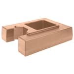 "Cambro R1000LCD157 Camtainer Riser - 19 1/2x15 3/8x4 1/2"" Coffee Beige"