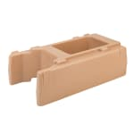 "Cambro R500LCD157 Camtainer Riser - 16-1/2x9x4-1/2"" Coffee Beige"