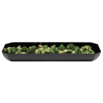 "Cambro SFG820110 Octagonal Display Tray - 8x20x2"" Black"