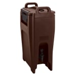Cambro UC500131 5-1/4-gal Ultra Camtainer Beverage Carrier - Insulated, Dark Brown