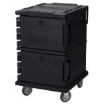Cambro UPC1200110 90 qt Camcarrier Ultra Pan Carrier - Front Loading, Black