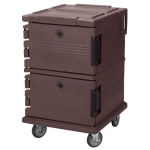 Cambro UPC1200131 90 qt Camcarrier Ultra Pan Carrier - Front Loading, Dark Brown
