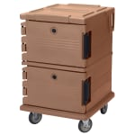 Cambro UPC1200157 90-qt Camcarrier Ultra Pan Carrier - Front Loading, Coffee Beige
