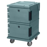 Cambro UPC1200192 90 qt Camcarrier Ultra Pan Carrier - Front Loading, Granite Green