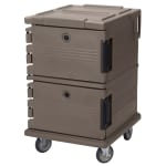Cambro UPC1200194 90 qt Camcarrier Ultra Pan Carrier - Front Loading, Granite Sand