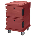 Cambro UPC1200402 90-qt Camcarrier Ultra Pan Carrier - Front Loading, Brick Red
