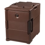 Cambro UPC400131 60-qt Camcarrier Ultra Pan Carrier - Front Loading, Dark Brown