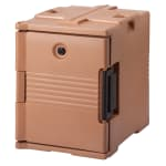 Cambro UPC400157 60-qt Camcarrier Ultra Pan Carrier - Front Loading, Coffee Beige