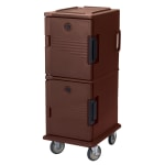 Cambro UPC800131 60-qt Camcart Ultra Pan Carrier - Front Loading, Dark Brown