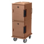 Cambro UPC800157 60-qt Camcart Ultra Pan Carrier - Front Loading, Coffee Beige