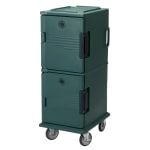Cambro UPC800192 60-qt Camcart Ultra Pan Carrier - Front Loading, Granite Green