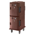 Cambro UPCH800131 Camcart Hot Ultra Pancarrier - Front Loading, Dark Brown 110v