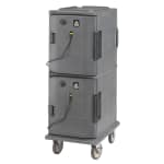Cambro UPCH800191 Camcart Hot Ultra Pancarrier - Front Loading, Granite Gray 110v