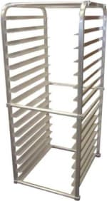 "Winholt AL1816IRKD 20.38""W 16-Sheet Pan Rack w/ 3"" Bottom Load Slides"