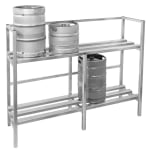 "Channel KSR48 (2) Level Keg Rack w/ (4) Keg Capacity, 48"" x 20"" x 55"""