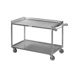 "Channel TDC2937A-3 36"" Utility Tray Delivery Truck w/ 3 Shelf Capacity, 37x29"", Aluminum"