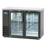 "Arctic Air ABB48G 49"" (2) Section Bar Refrigerator - Swinging Glass Doors, 115v"