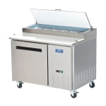 "Arctic Air APP48R 48"" Pizza Prep Table w/ Refrigerated Base, 115v"