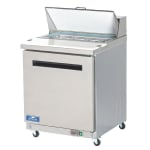 "Arctic Air AST28R 29"" Sandwich/Salad Prep Table w/ Refrigerated Base, 115v"