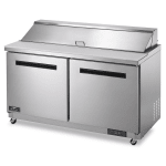 "Arctic Air AST60R 61.25"" Sandwich/Salad Prep Table w/ Refrigerated Base, 115v"