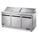 "Arctic Air AST72R 72"" Sandwich/Salad Prep Table w/ Refrigerated Base, 115v"