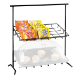 Cal-Mil 1006 Black Iron Frame Display w/ 2-Sloped Tiers, 23x13x26""