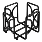 "Cal-Mil 1243 Square Wire Cocktail Napkin Holder, 5.5 x 4.5"" High"