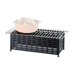 "Cal-Mil 1361-22 Lattice Style Chafer Alternative, 22 x 12 x 7.5"" H, Black"