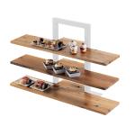 """Cal-Mil 1449-99 Reclaimed Wood Frame Riser Shelf for 1464 & 1467, 32 x 11.5"""" D"""