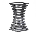 """Cal-Mil 1465-10-13 Elevation Riser w/ Powder Coated Metal, 8"""" Square Crown x 15"""" Height, Black"""