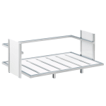 """Cal-Mil 1471-15 1 Tier Display Stand - 21""""W x 13""""D x 8""""H, Silver/White"""