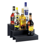 "Cal-Mil 1491-69 3 Step Bottle Display, 12 x 13 x 6.75"" High, Graphic Acrylic"