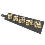 "Cal-Mil 1535-16-13 16"" Flat Bread Serving Display Board, Black"