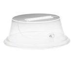 Cal-Mil 160-12 12-in Round Continental Lift & Serve Cover w/ Door & Flat Top