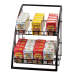 "Cal-Mil 1702-13 Merchandiser w/ Wire Shelves, 13.5 x 15 x 16.5"", Black"