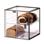 Cal-Mil 1720-4 4 Tier Bread Case w/ Wire Frame & Textured Acrylic Body