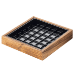 "Cal-Mil 330-4-99 4"" Square Drip Tray, Reclaimed Wood"