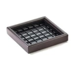 """Cal-Mil 330-6-52 6"""" Square Woodland Drip Tray w/ Removable Inner Tray, Dark Wood"""