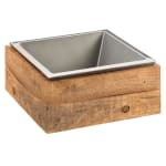 "Cal-Mil 3367-99 Cold Concept Cooling Base - 12""W x 12""D x 4.5""H, Wood"