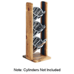 "Cal-Mil 3411-99 20.5"" 3-Tier Cylinder Display, Reclaimed Wood"