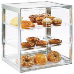 "Cal-Mil 3413-55 3 Tier Self-Serve Pastry Display Case - 19.25"" x 14.25"", Acrylic/Stainless"