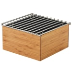 "Cal-Mil 3440-60 9.75"" Square Chafer Alternative - 5.5""H, Bamboo"
