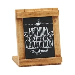 """Cal-Mil 3489-46-99 Tabletop Write-On Sign - 4"""" x 6"""", Reclaimed Wood"""