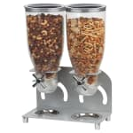 Cal-Mil 3510-2-39 Countertop Cereal Dispenser w/ (2) 3.5 liter Containers - Metal Stand, Chrome