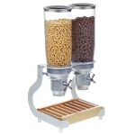 Cal-Mil 3516-2-98 Countertop Cereal Dispenser w/ (2) 5 liter Containers - Wood Stand, Beechwood