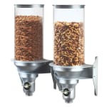Cal-Mil 3519-2-39FF Wall-Mount Cereal Dispenser w/ (2) 13.5 liter Containers, Platinum