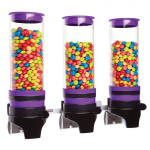 Cal-Mil 3525-3-79 Wall-Mount Topping Dispenser w/ (3) 1 liter Containers - Plastic, Purple