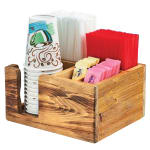 """Cal-Mil 3566-99 5 Section Condiment Organizer - 9.75""""W x 8.25""""D x 5""""H, Reclaimed Wood"""